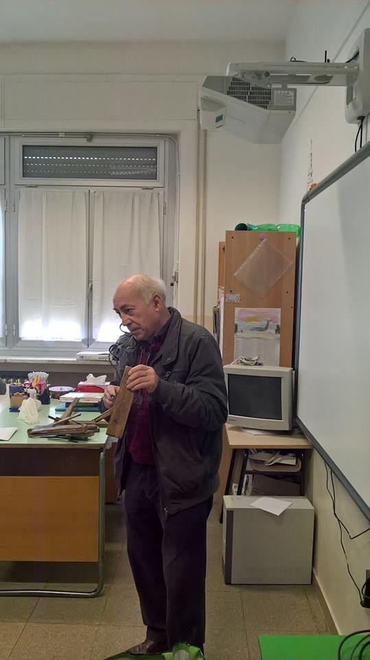 20/3/2017. Scuolartigiana. Lezione su restauro ligneo con Alfredo Borgogni