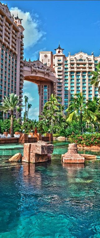 Atlantis Paradise Island is a resort & waterpark in the Bahamas • photo: Timothy Lowry on FineArtAmerica. Wow I would love to go here!!!!!
