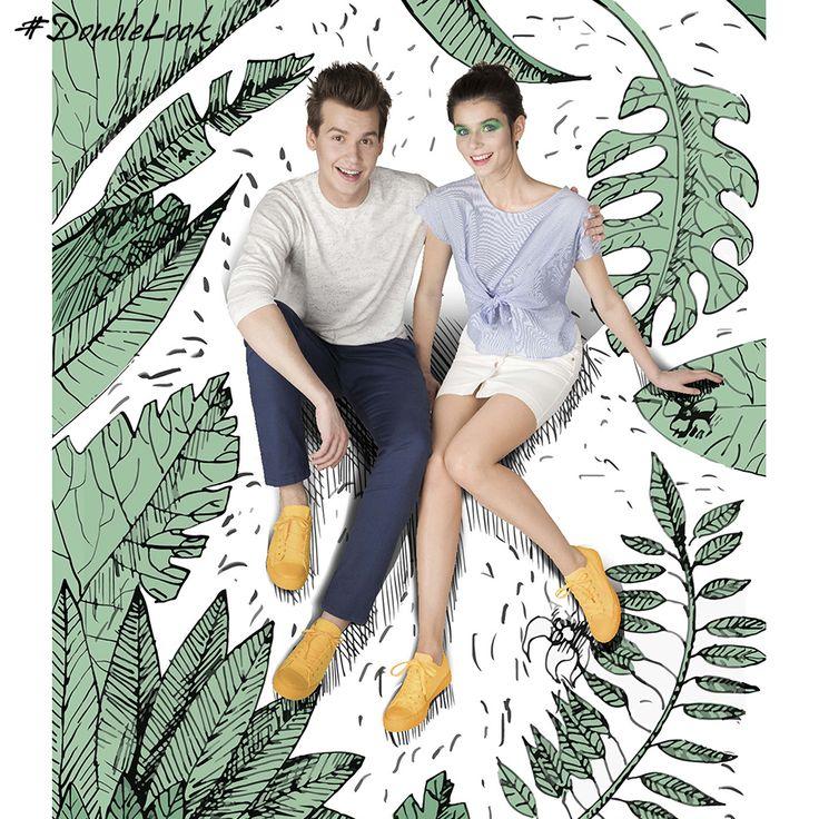 Путешествовать?⛵ Вместе – хоть на край света! 🌄Коллекция Double look – единый дизайн обуви для него и для нее. 👫Double look от Respect – потому что мы вместе!🎈 Мужские:FQ13/10 Женские: BX001-010/10  #doublelook #длянее #длянего #вместе #respectshoes #iloverespect #ss17 #лето #shoes
