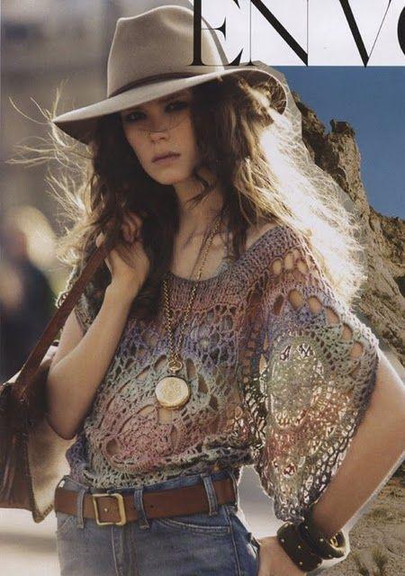 Lace doily top // Inspiration, no pattern