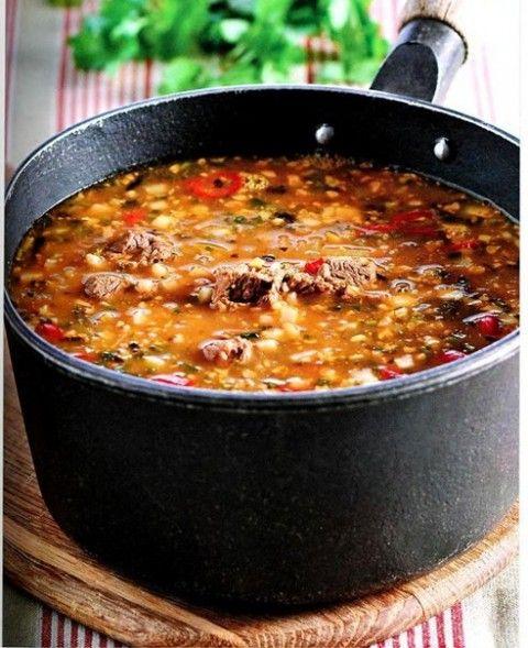 Суп Харчо. Блюдо грузинской кухни.