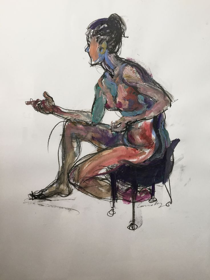 Female Hand Gesture, by Mick Connolly, 2015.  Acrylic and charcoal on paper, 59cm x 84cm (framed).  #painting #drawing #lifedrawing #female #figure #nude #worksonpaper #acrylic #charcoal #mickconnolly #atelier451 #ormond