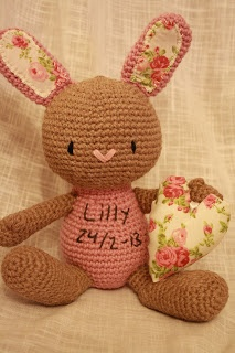 Cute bunny as a christening gift