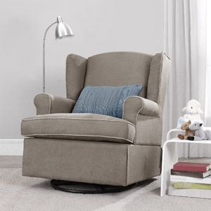This is Perfect!  Consider this my non-official registry item - Baby Relax Colby Swivel Glider, Dark Taupe