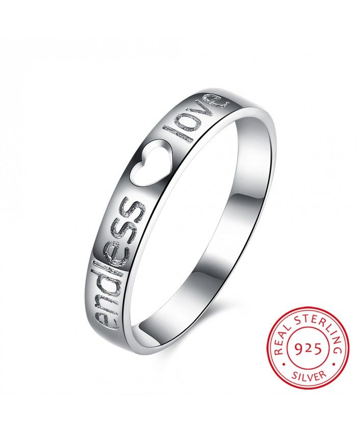 925 Sterling Silver Letter Ring Platinum For Womens 2016