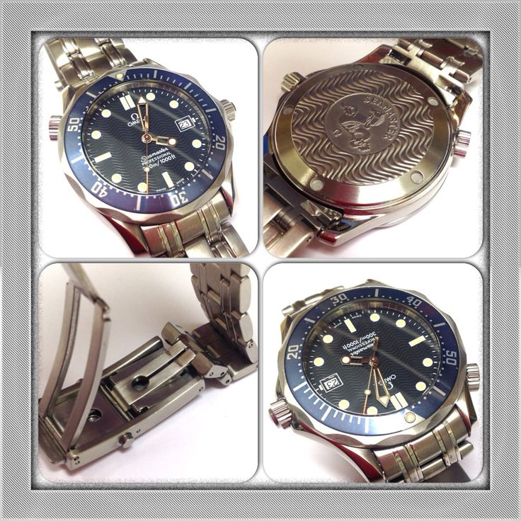 Second Hand Gents Omega Seamaster (Mid-Size) With Blue Dial. Our Price £895.00 #omega #seamaster #secondhand #pawnbrokers #islington