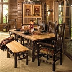 Fireside Lodge Rectangular Hickory Dining Table Online And In Store From Carolina  Rustic Furniture In Cashiers