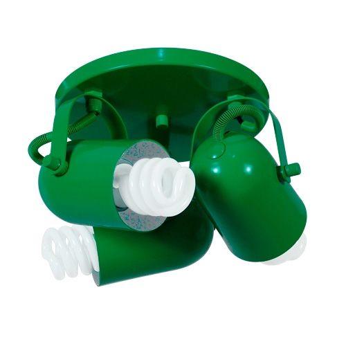 Loja Virtual Luminarias - Spot de Sobrepor Verde R$137