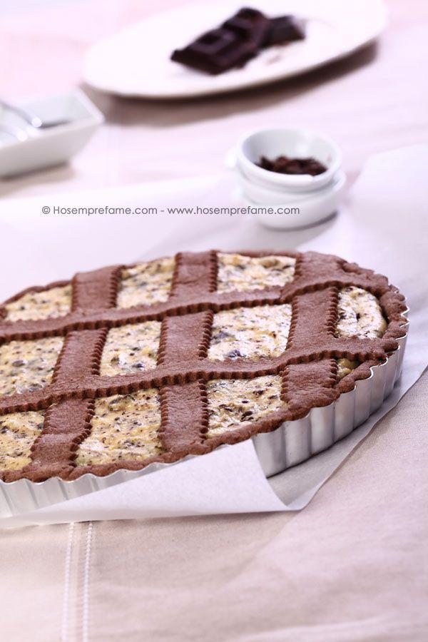 Crostata cacao e ricotta - Ho sempre fame