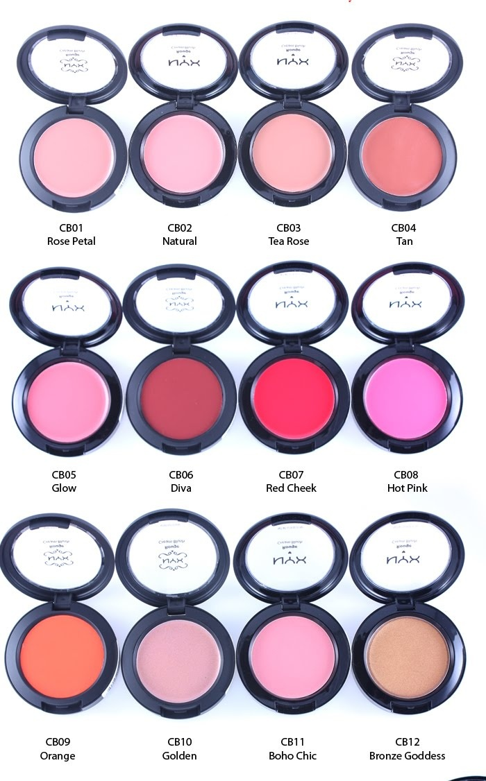 Glossicious Beauty Blog,Makeup Review,Swatch Gallery: RIP-NYX Cosmetics Rouge Cream Blushes