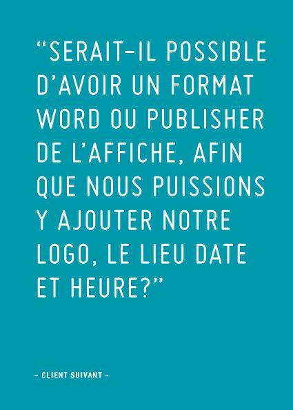 Client suivant: Format Word… (rapporté par MF)