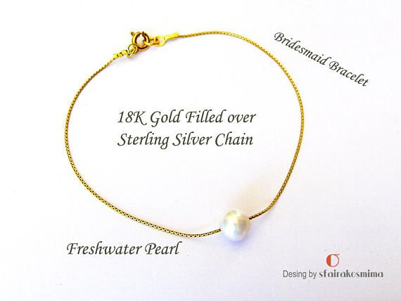 One Pearl Bracelet Real Freshwater Pearl Single Pearl