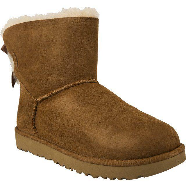 Sniegowce Damskie Ugg Ugg Brazowe Mini Bailey Bow Ii Chestnut Boots Winter Boots Women Uggs