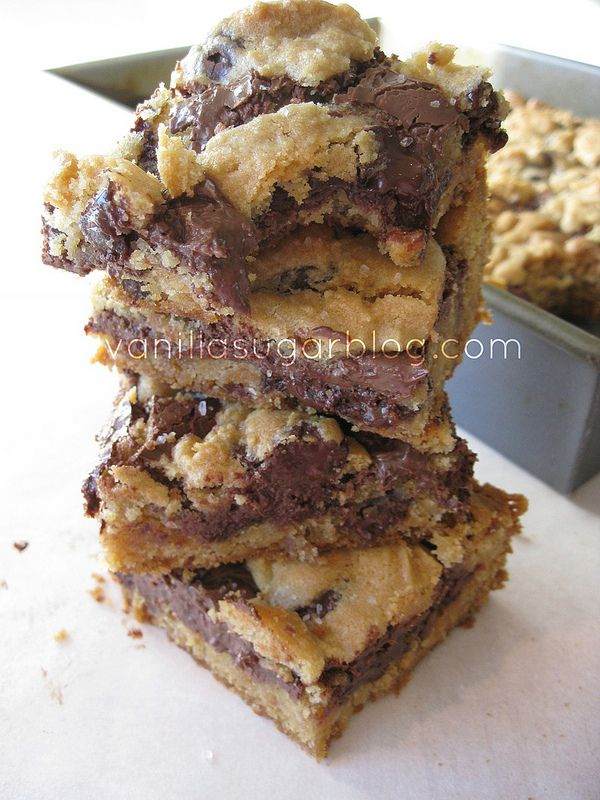 salted nutella cookie bars. @Jessie Flack I'm not a Nutella fan but this does look pretty good!!! :)