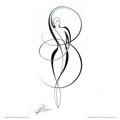Infinity goddess tattoo idea