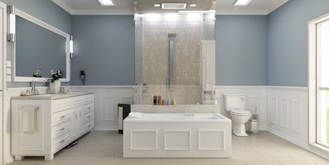 Modern classic bathroom with wc