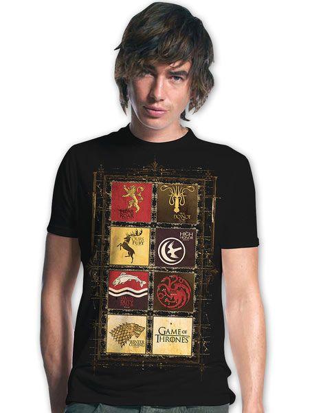Camiseta Reinos Juego de Tronos Camiseta perteneciente a la serie de tv Juego de Tronos, con la imagen de los Reinos.