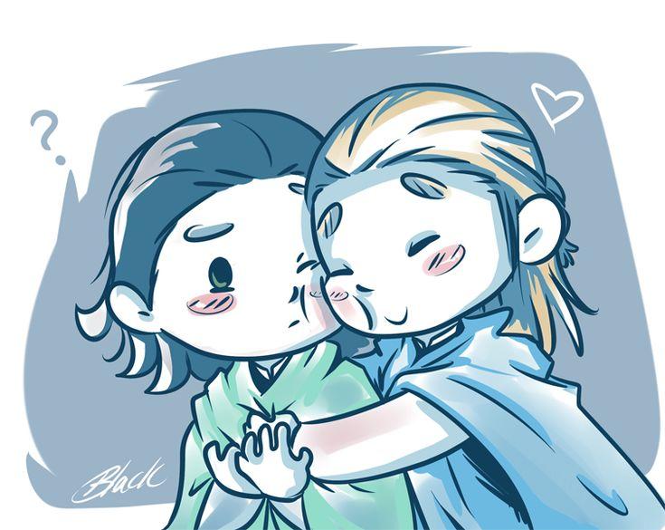 http://caycowa.deviantart.com/art/Thorki-Hugs-417962065 Thor and Loki
