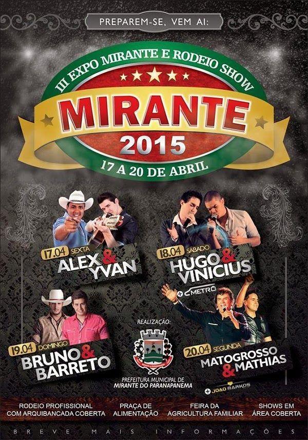 Festas de Carros de Boi: Expo Mirante e Rodeio Show de Mirante do Paranapan...