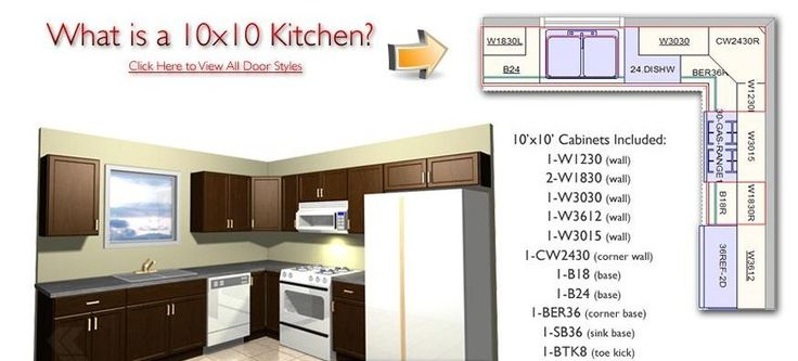 10 x 10 kitchen with island | What is a 10×10 Kitchen ...