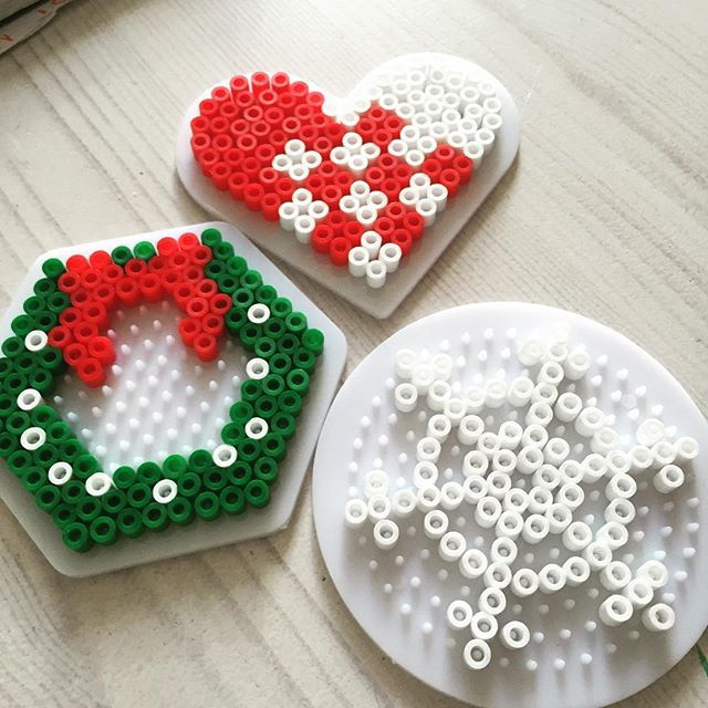 Christmas ornaments hama beads by nordiia