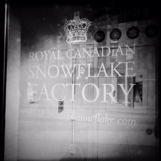 Another great thing about Vancouver is that the Royal Canadian Snowflake Factory is based here.