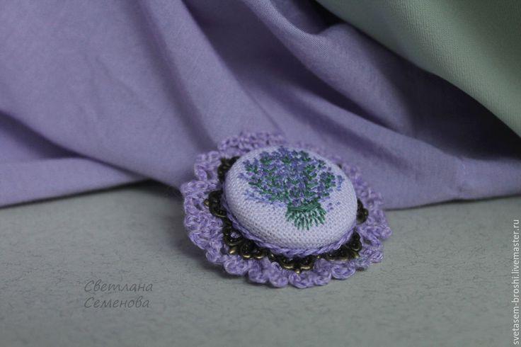 Купить Брошь Букет Лаванды - кружевной, винтаж, старинный, винтажное украшение, винтажная брошь