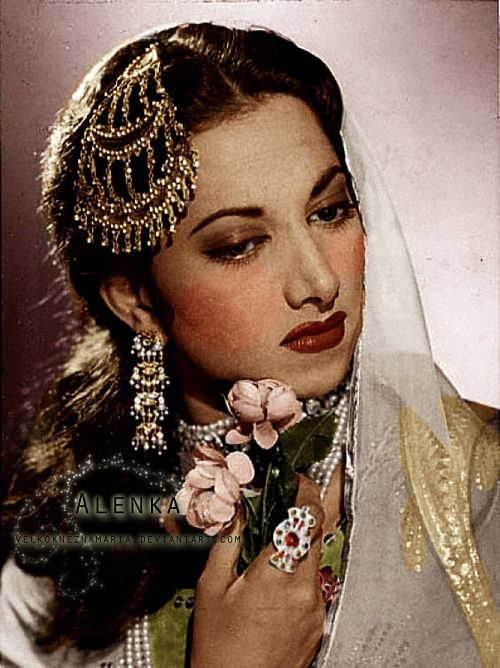 Vintage Bollywood actress and singer Suraiya