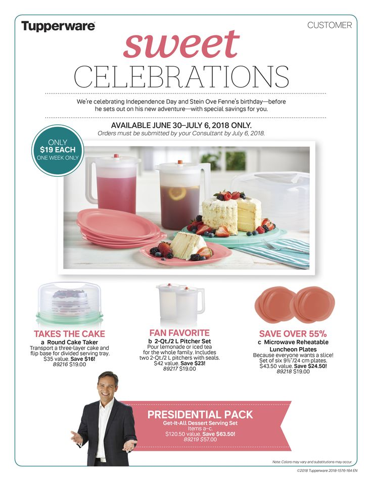 Tupperware Sale June 30th - July 7th 2018 Call Wendy to order 916-624-6419