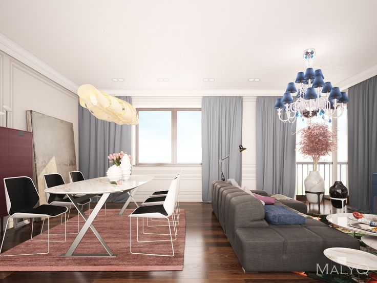 Living Room, Luxury apartment in Prague, Czech Republic. Design by MalyQ.