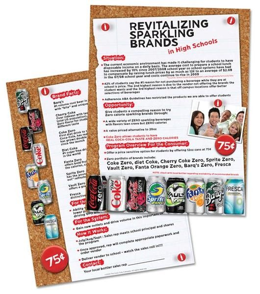 CocaCola Sell Sheet  BrochureFlyer Design    Brochures