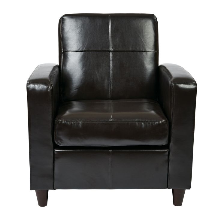 Office Star Products Ave Six Venus Club Chair in Environmentally Friendly Eco & Solid Wood Legs