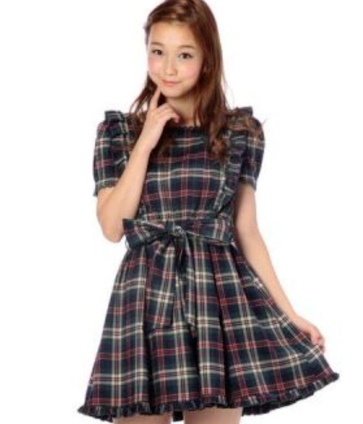 Liz Lisa Green Plaid Heart Dress Rare!! kawaii hime lolita harajuku (007 #LizLisa