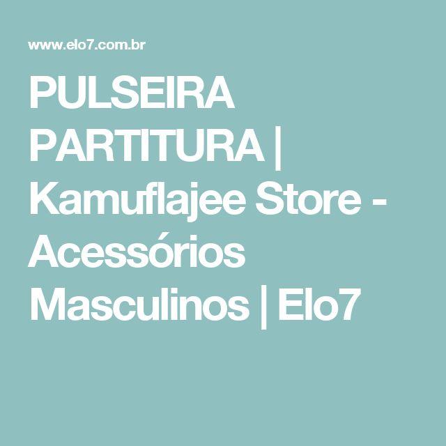 PULSEIRA PARTITURA | Kamuflajee Store - Acessórios Masculinos | Elo7