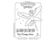 rainbow fairies colouring in