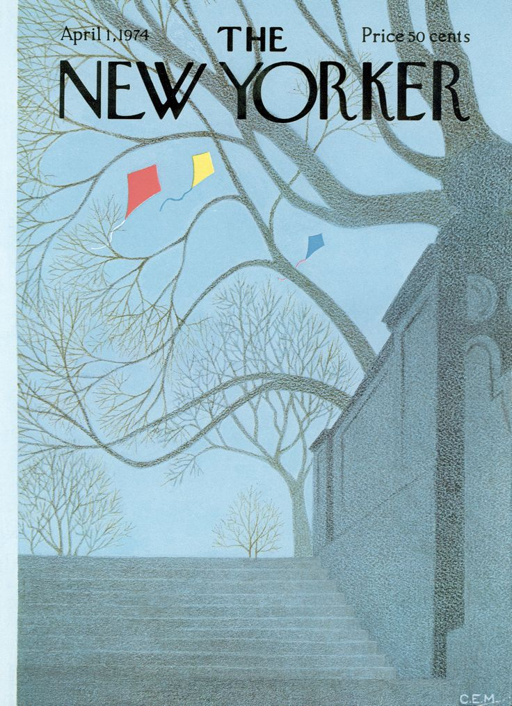 The New Yorker - Monday, April 1, 1974 - Issue # 2563 - Vol. 50 - N° 6 - Cover by : Charles E. Martin