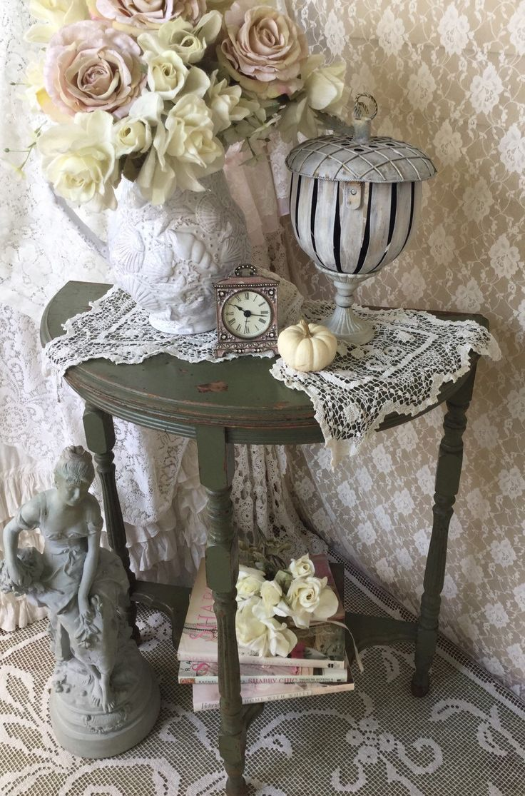 Shabby Demilune Table,Half round chippy distressed end table,side table,plant stand,svfteam,tvat by Fannypippin on Etsy https://www.etsy.com/listing/248702768/shabby-demilune-tablehalf-round-chippy