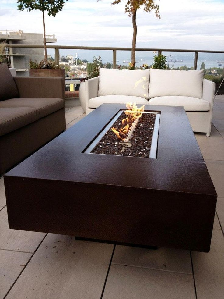 """Amazon.com : Dreffco 30"""" x 72"""" Custom Outdoor Rectangular Fire Pit Table with CSA Approved 90, 000 BTU NG or LP Stainless Steel Burner and Reflective Fireglass : Patio, Lawn & Garden"""