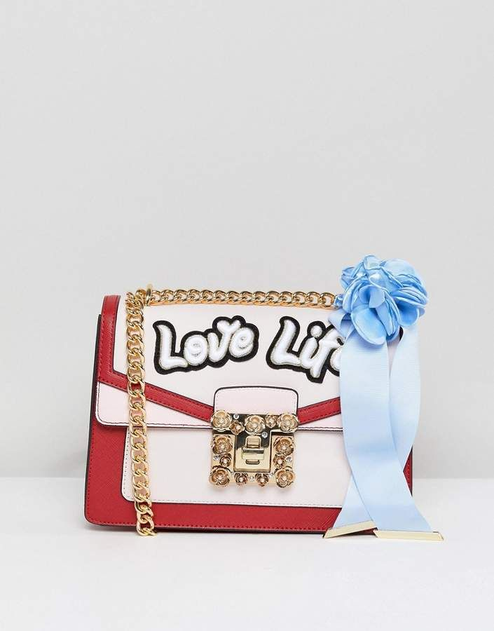 2846c3940c9 Aldo Top Handle Cross Body Bag with Love Life Embroidery