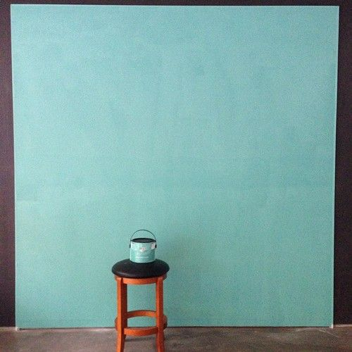 Wall painted with devine pond an aqua blue you can live for Aqua blue paint for walls