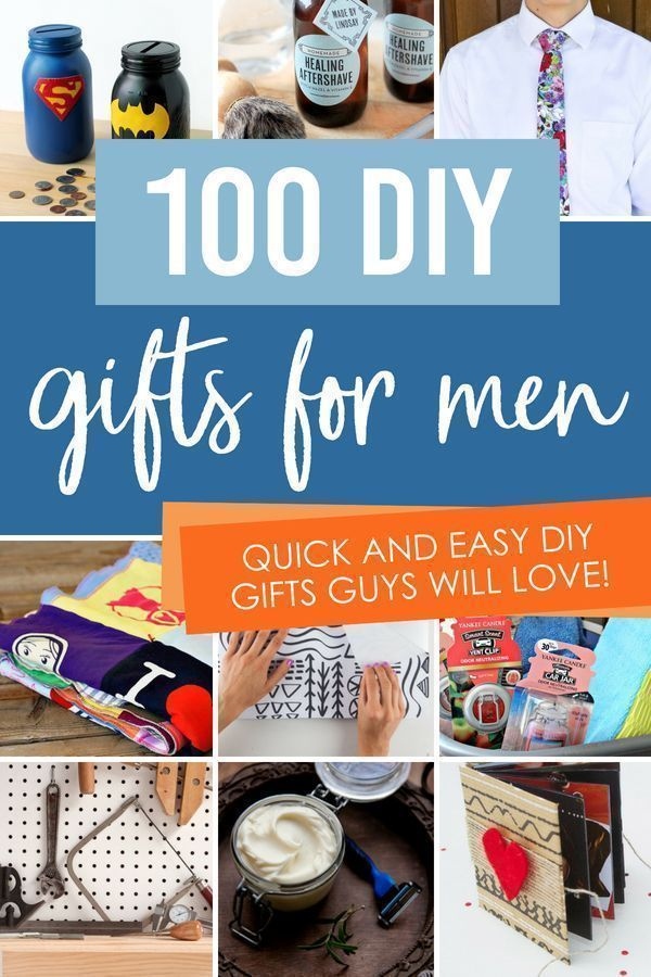 Creative Diy Gift Ideas For Men With Images Diy Gifts Guys