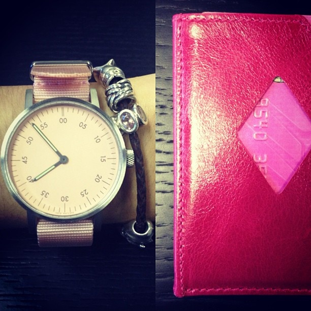 Not just for the boys! VOID V03 Basic Watch in Pink and Exentri Card Holder Wallet in Pink Dream