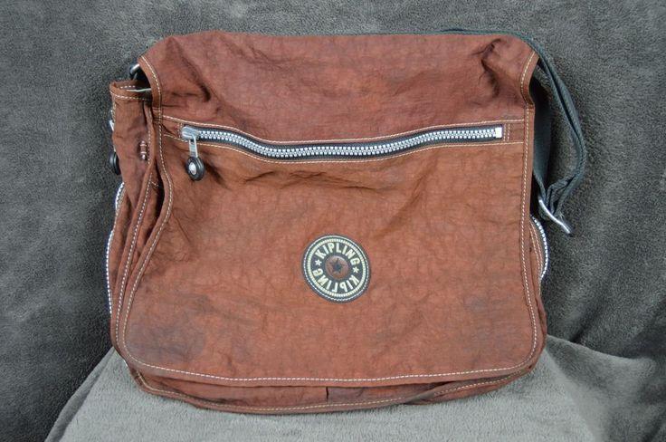 "Kipling Laptop Computer Bag expandable Brown 16"" Wide **SEE CONDITION**  #Kipling #computerbag"
