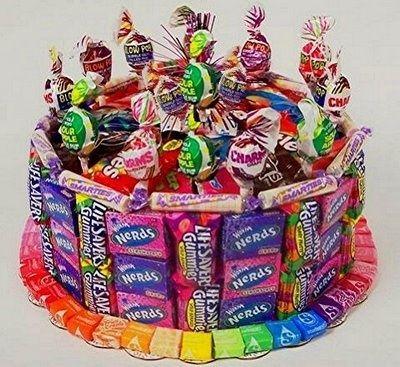 Candy cake - great idea