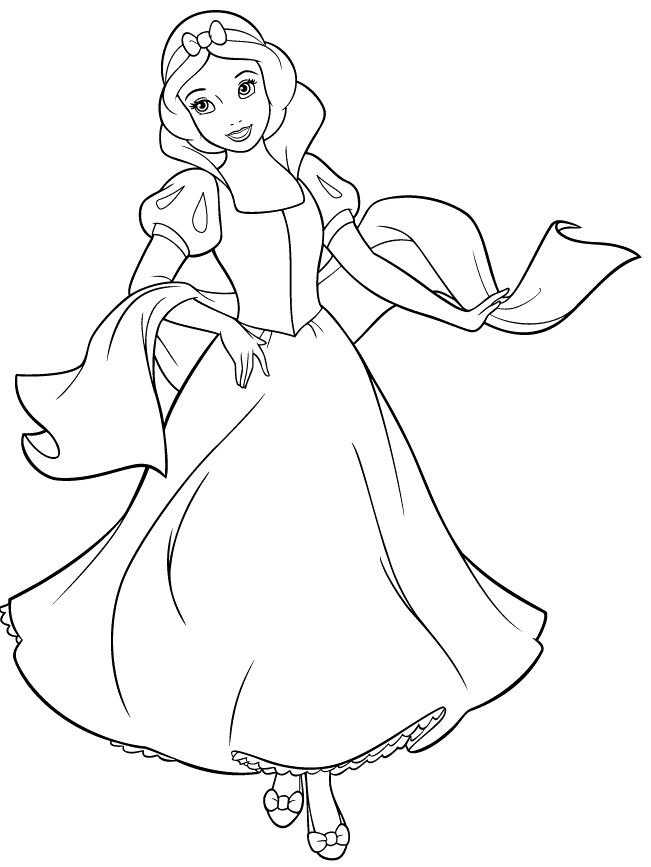 Disney Princess Snow White Coloring Page Adult and