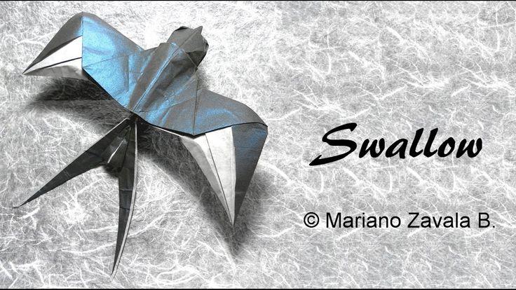 Origami Swallow (Tutorial) - Mariano Zavala B.: Cómo hacer una Golondrina en Origami Diseñado por Mariano Zavala B. (12/2014)    Nivel de dificultad: intermedio  Papel recomendado: doble seda: 20cm x  20cm   Website: http://ift.tt/2dVCdlI Instagram: http://ift.tt/2e9Aq7U Flickr:  http://ift.tt/2dVCeGi  ========================================  Music: Acoustic Guitar Mariano Zavala B.