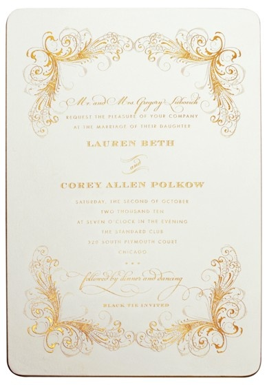 40 best engraved stationery images on pinterest contact paper invitation with gold gilded edges engraved in gold elizabeth grace elizabethgrace stopboris Choice Image