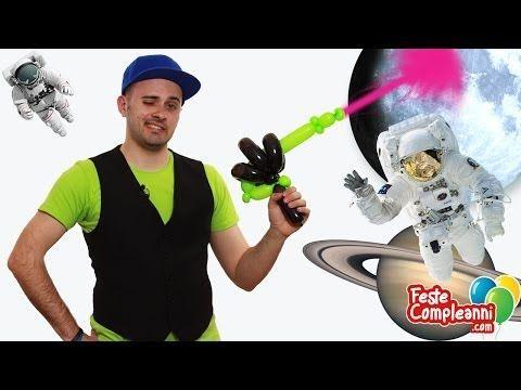 Balloon Space Gun - Palloncino Pistola Laser - How to twist a Laser Gun with Balloon art. See all ours video tutorials.  Sculture Palloncini Modellabili - Pistola Laser - Benvenuti nello spazio! Oggi insieme a Mr. Nany impareremo a realizzare una speciale Pistola Laser per difenderci durante le nostre avventure spaziali. Siete pronti per partire alla scoperta di nuovi pianet
