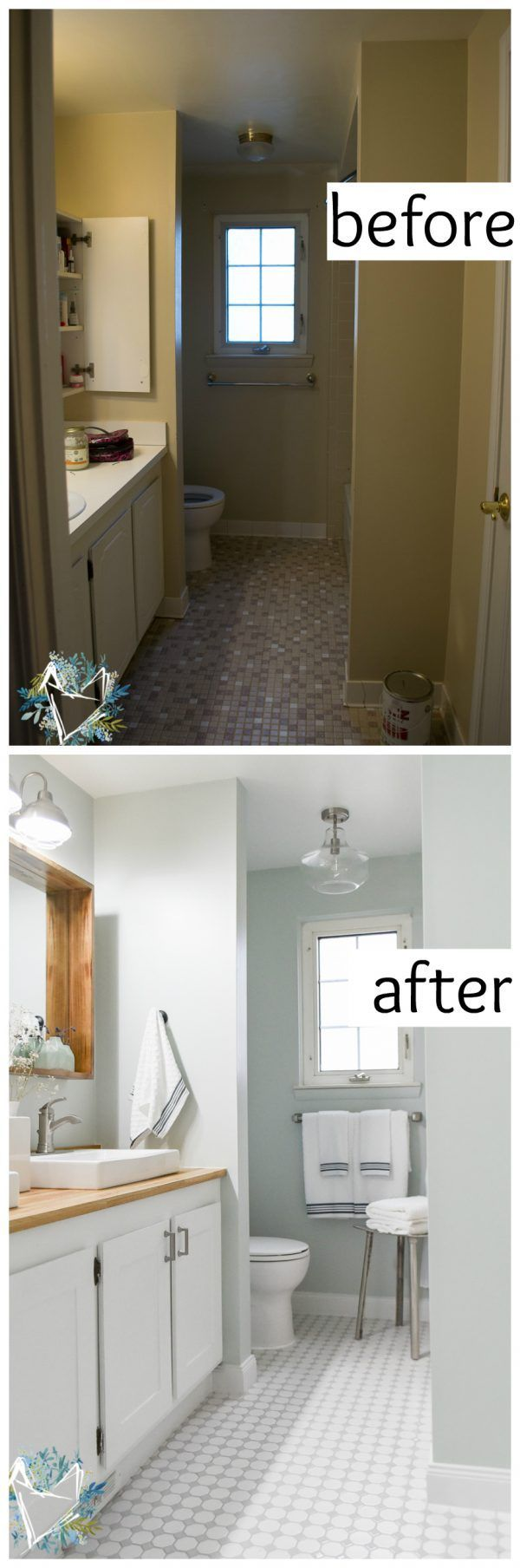 Best 25 Budget Bathroom Makeovers Ideas On Pinterest  Tiny Beauteous Small Bathroom Remodels Ideas Inspiration