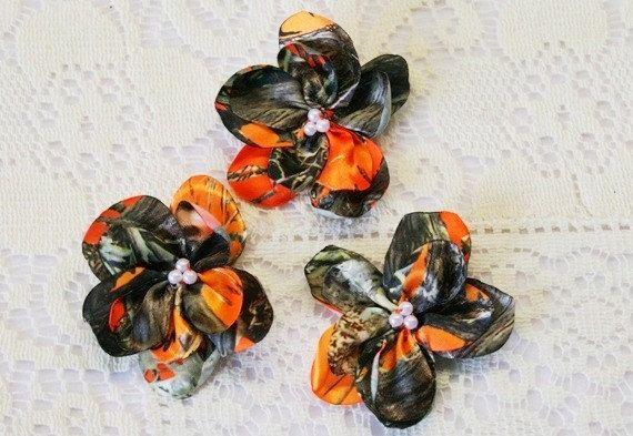 Orange Camo Flowers  Camouflage Flowers  Camo by IDoDoodads, $0.89